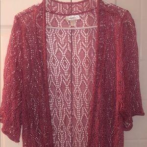DressBarn open knit long Cardigan Shawl Sweater 3X